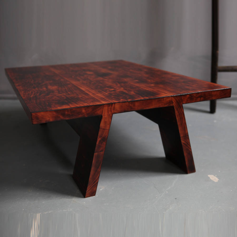 Image of: Cherry Wood Coffee Table Dark
