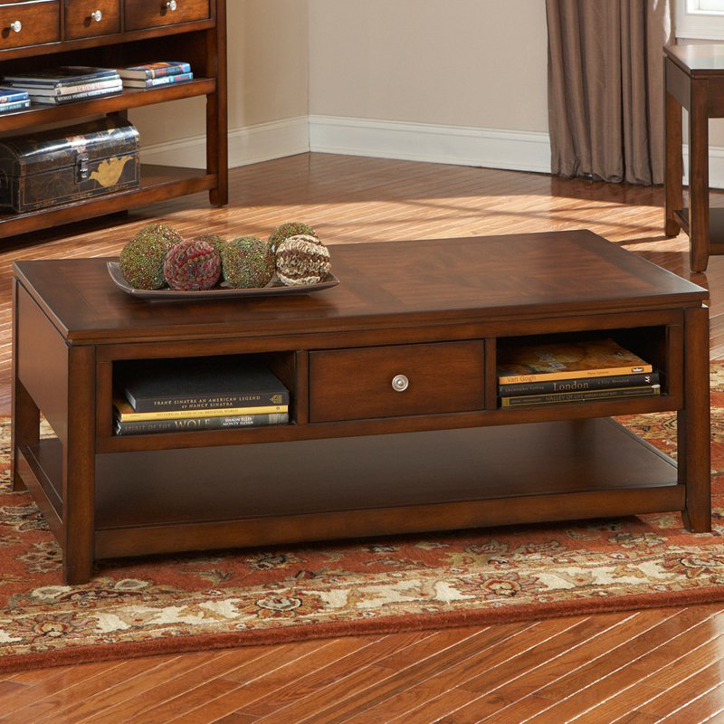 Cherry Wood Coffee Table Solid