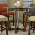 Cherry Wood Dining Table Glass Top