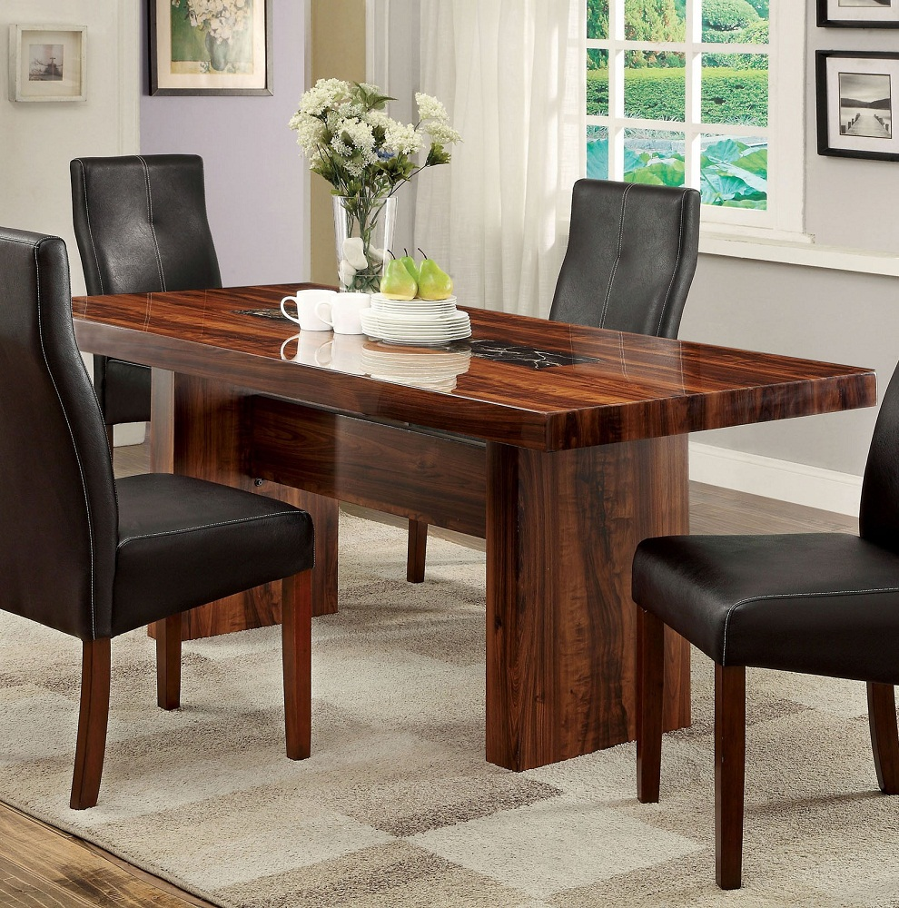 Image of: Cherry Wood Dining Table Style