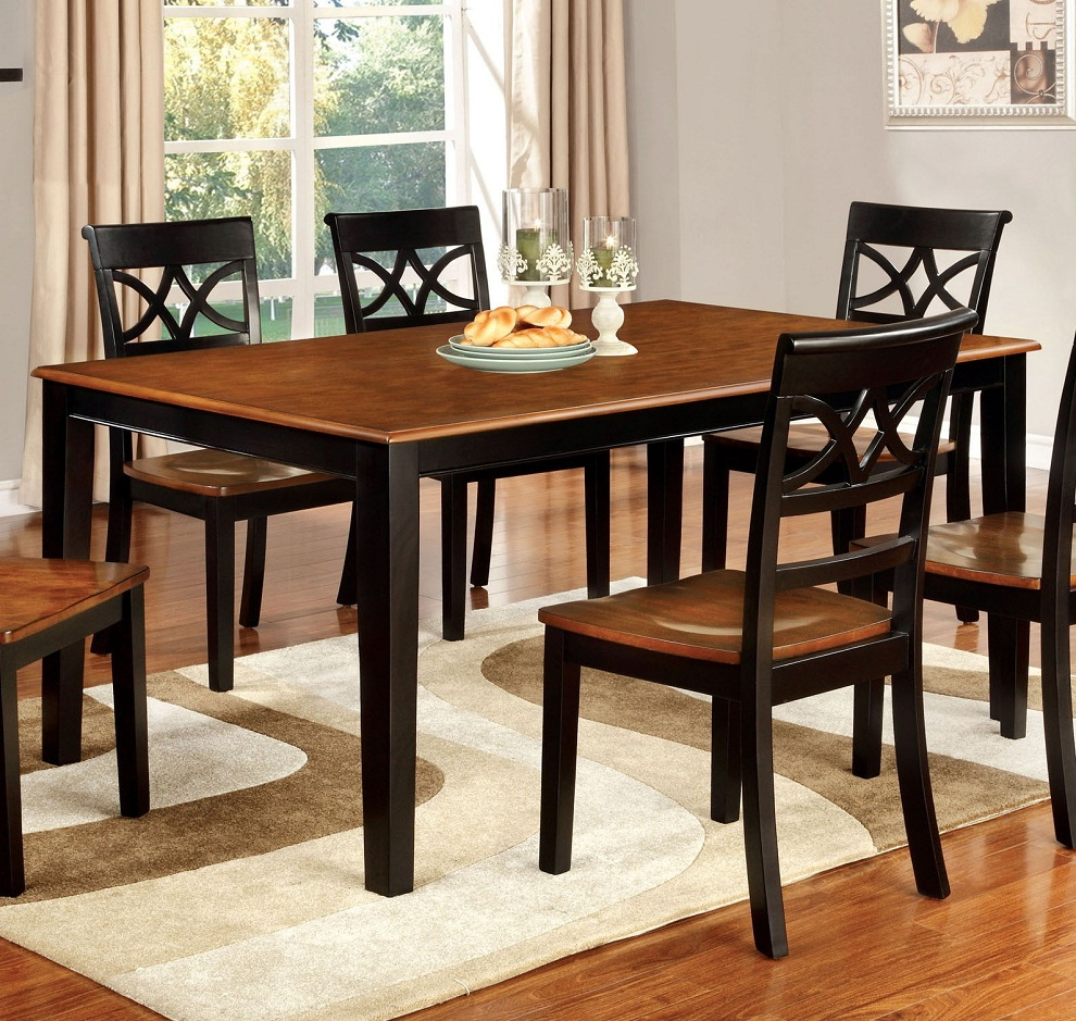 Image of: Cherry Wood Dining Table and Chairs