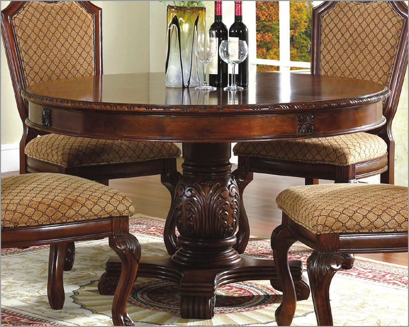 Image of: Chery Round Pedestal Dining Table