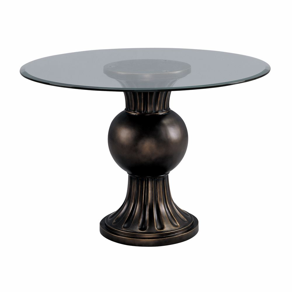 Image of: Classic Pedestal Table Base for Glass Top