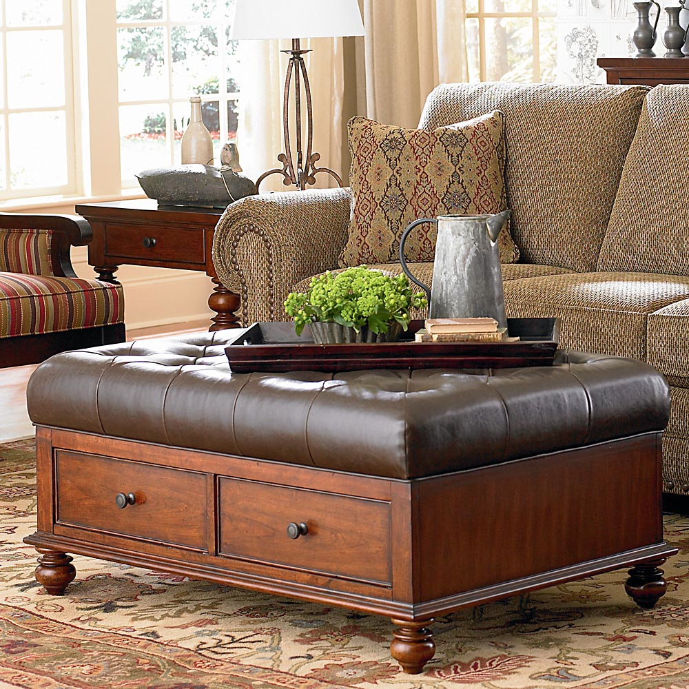 Picture of: Classic Tufted Ottoman Coffee Table