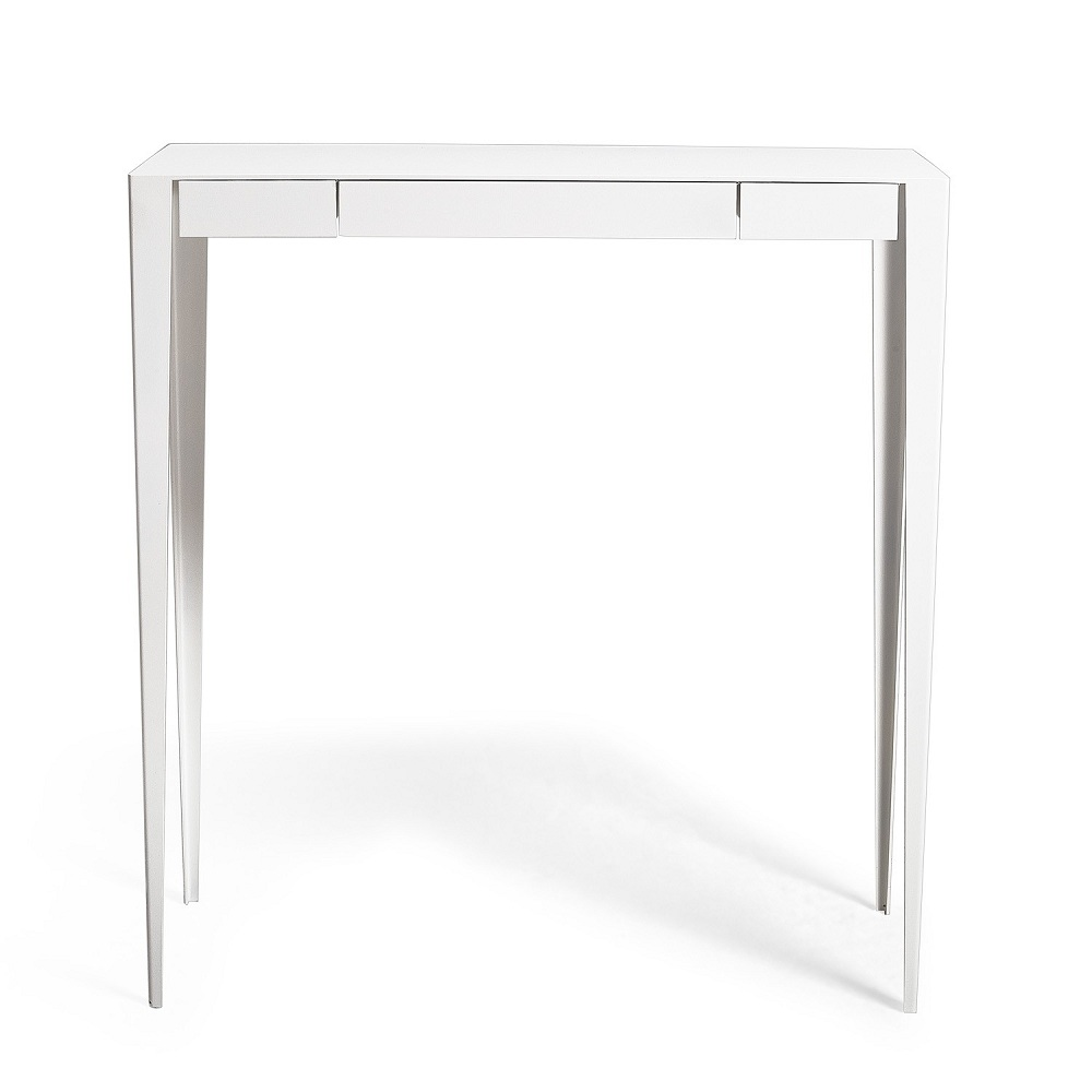 Image of: Classic White Lacquer Console Table