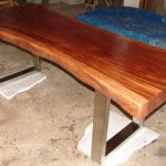 Classic Wood Slab Dining Table