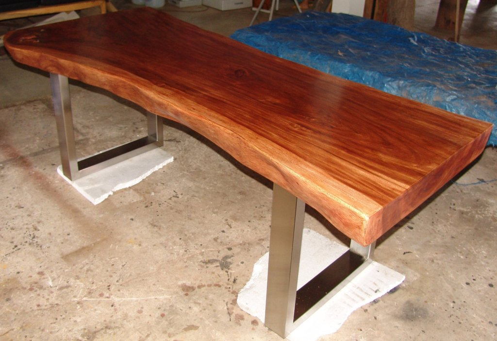 Image of: Classic Wood Slab Dining Table