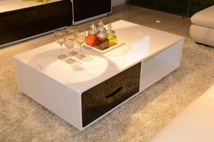 Image of: Coffee Table With Drawers Decor