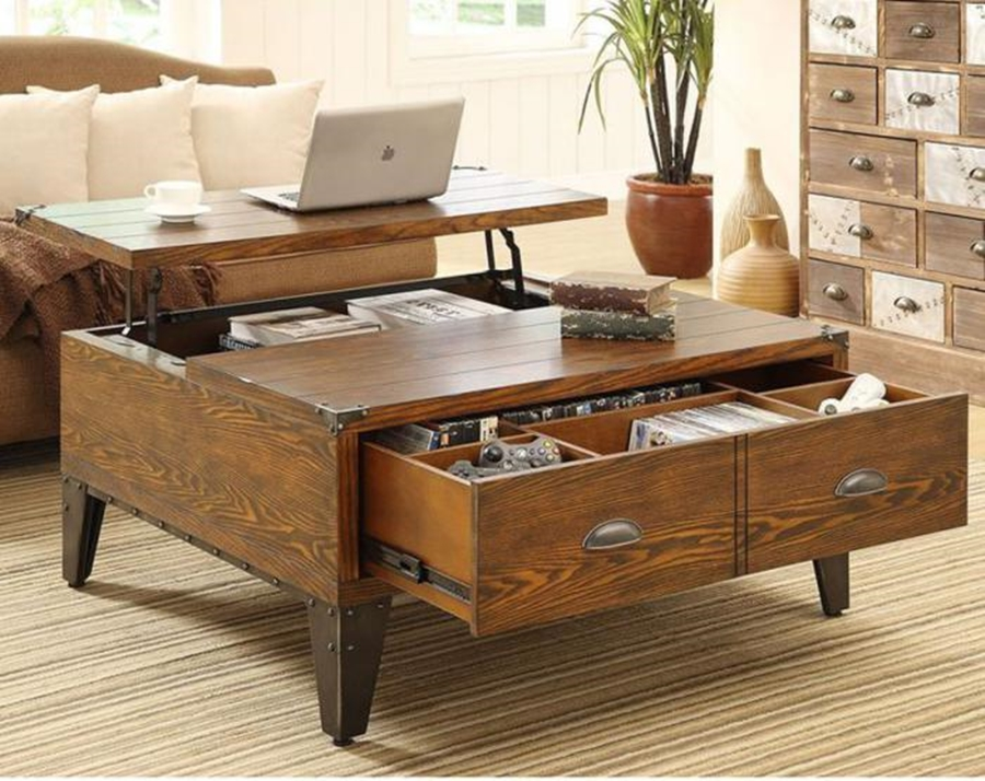 Image of: Coffee Table With Drawers Design Ideas