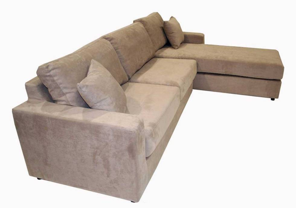 Picture of: Comfortable Microfiber Sectional Sofa