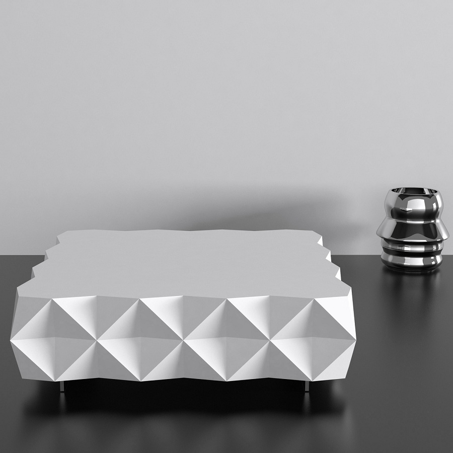 Image of: Concept White Lacquer Coffee Table