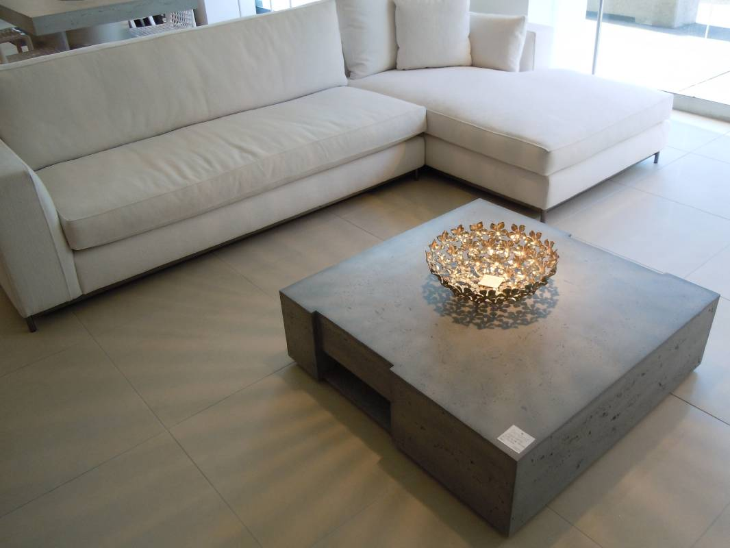 Image of: Concrete Coffee Table Design