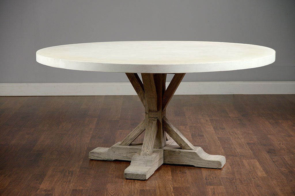 Image of: Concrete Top Dining Table Bases