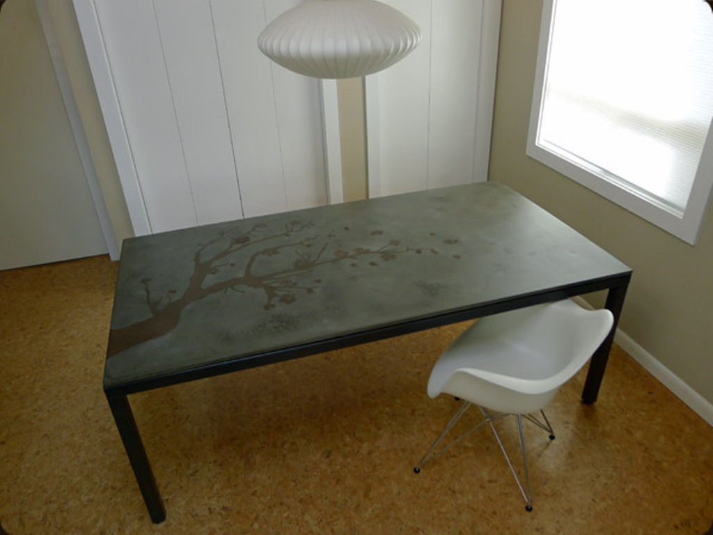 Image of: Concrete Top Dining Table Ideas