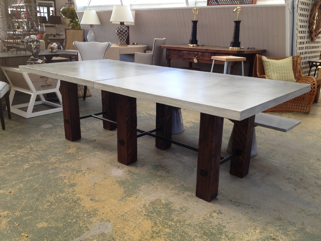 Image of: Concrete Top Dining Table Pads