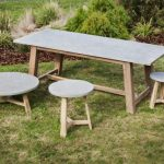 Concrete Top Dining Table Sets