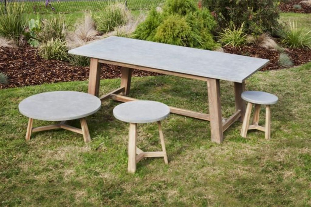 Picture of: Concrete Top Dining Table Sets