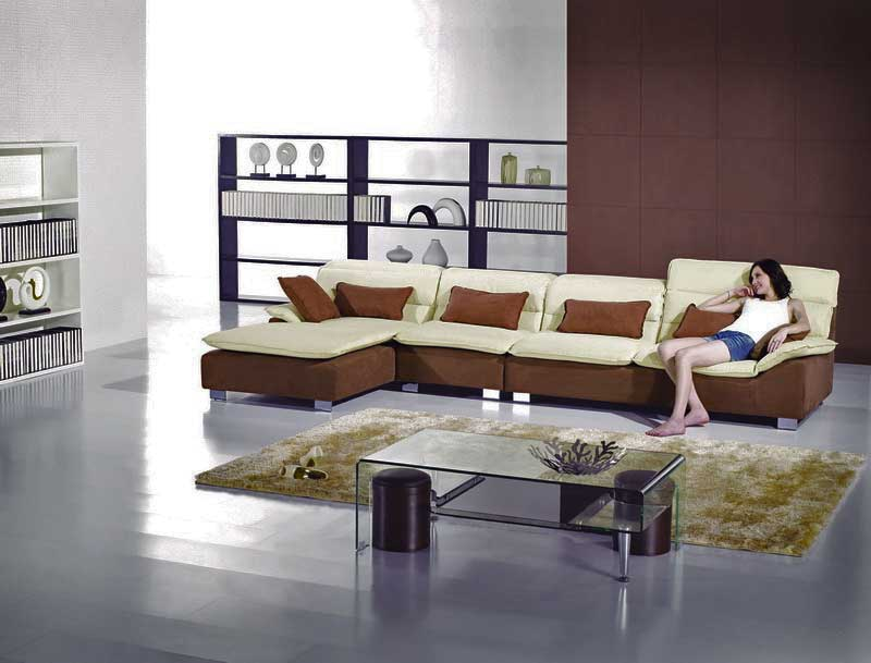 Contemporary Microfiber Sectional Sofa