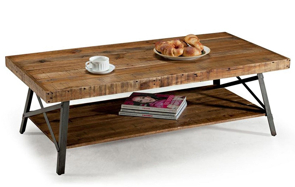 Picture of: Contemporary Reclaimed Wood Coffee Table