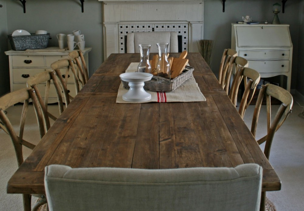 Picture of: Contemporary Restoration Hardware Dining Table