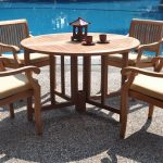 Contemporary Teak Outdoor Dining Table