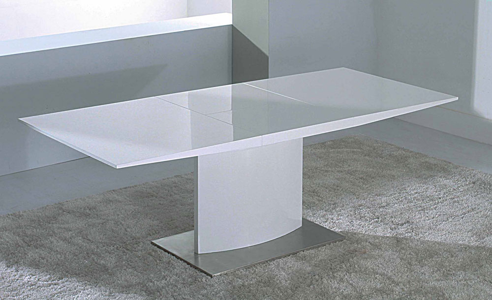 Image of: Contemporary White Lacquer Table