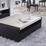 Contemporary White Marble Coffee Table