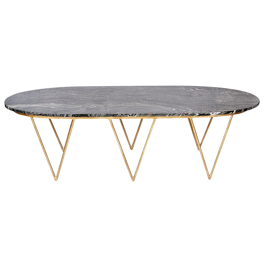 Image of: Cool Oval Marble Coffee Table