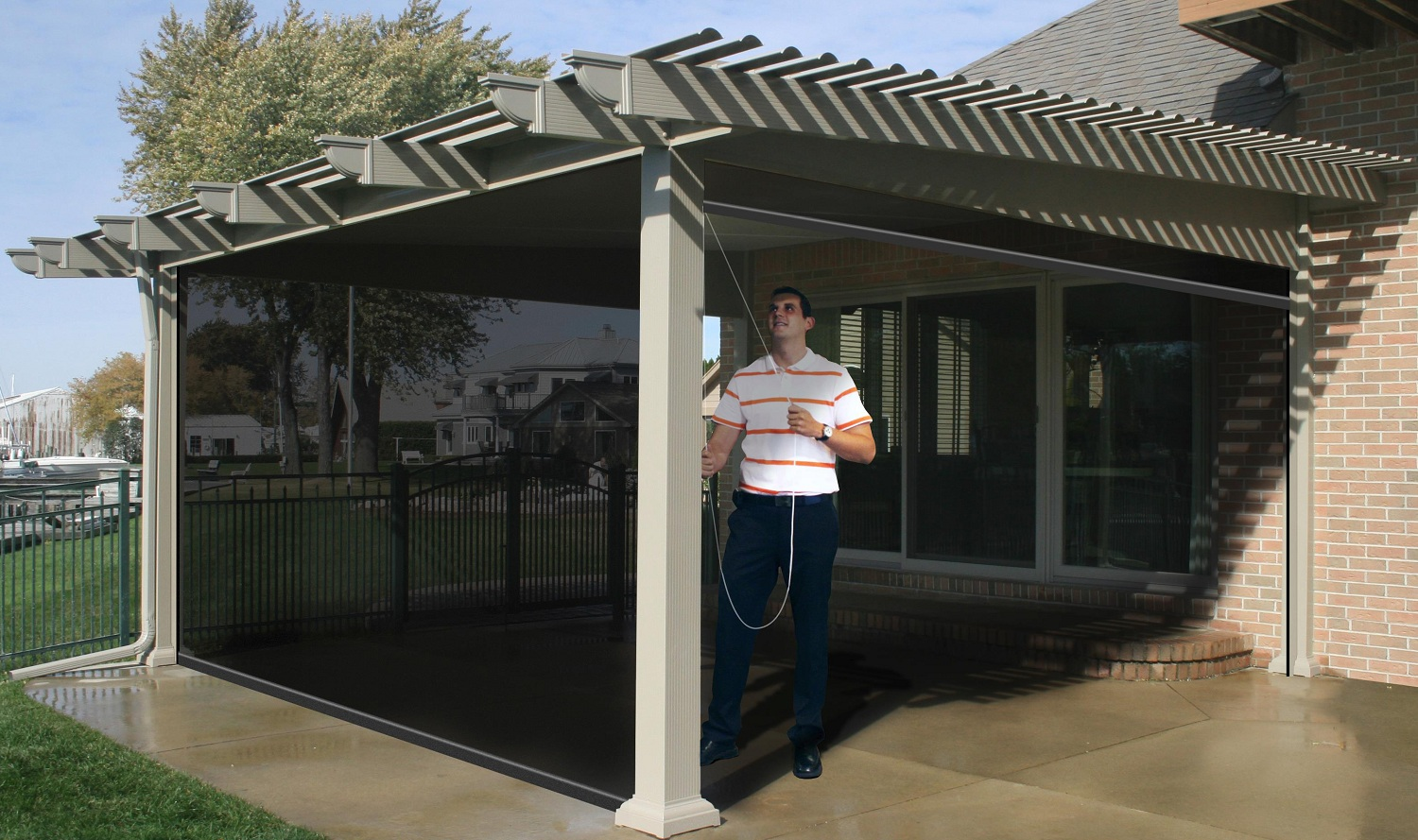 Picture of: Cool retractable patio covers