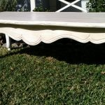 Costum Distressed White Coffee Table