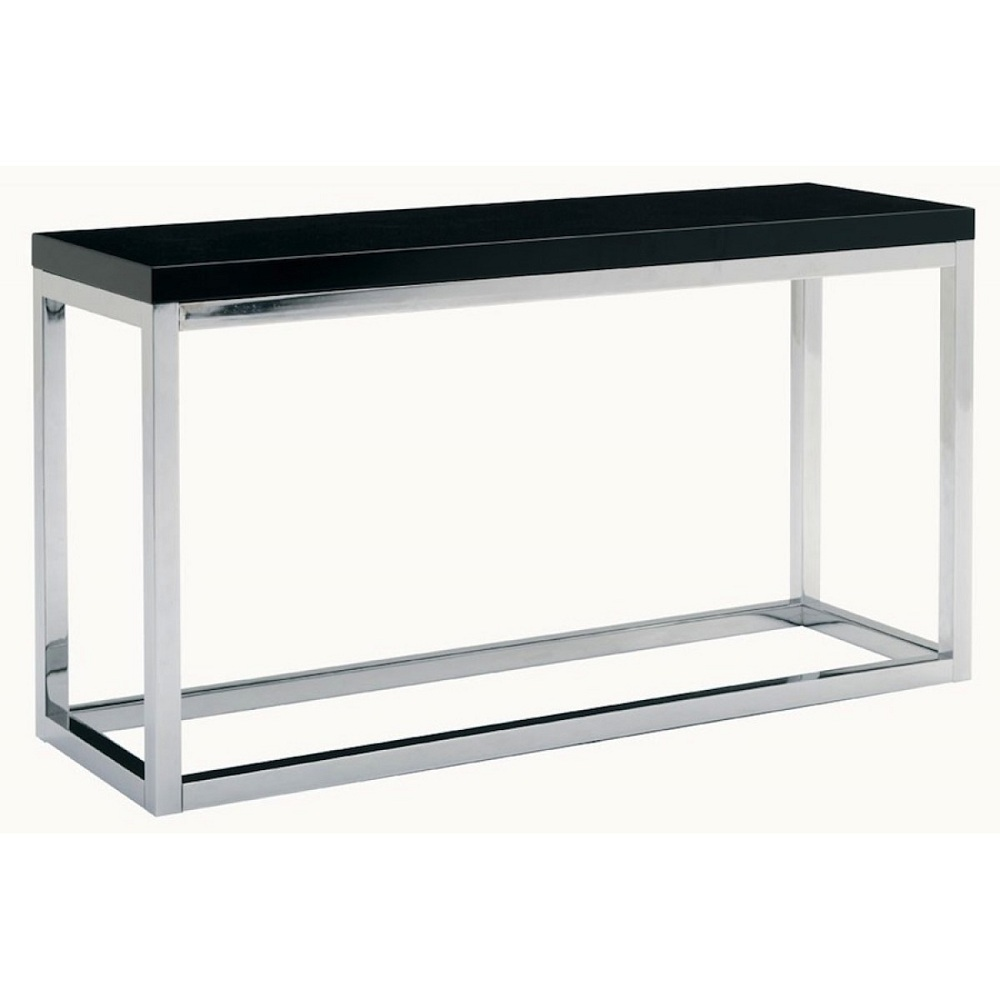 Costum White Lacquer Console Table