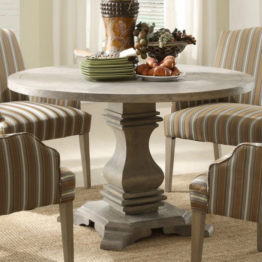 Image of: Country Round Pedestal Dining Table