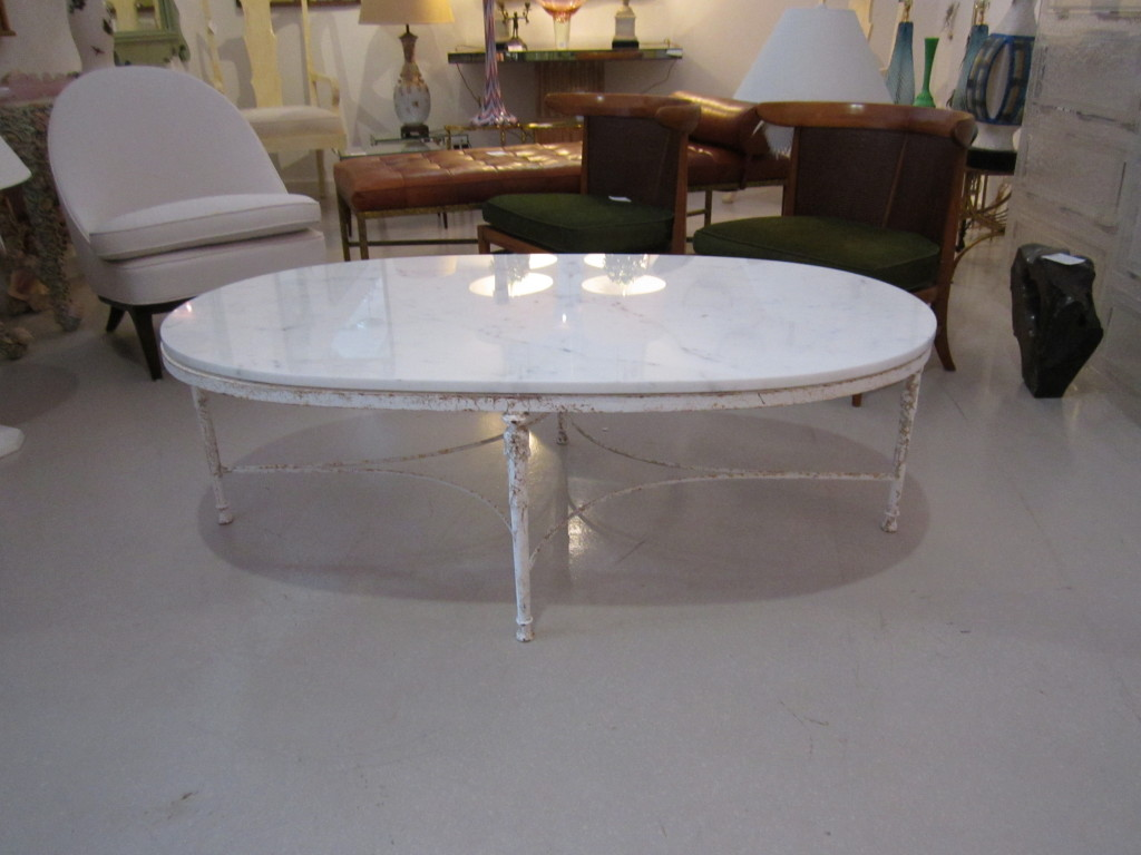 Picture of: Cramic Oval Marble Coffee Table