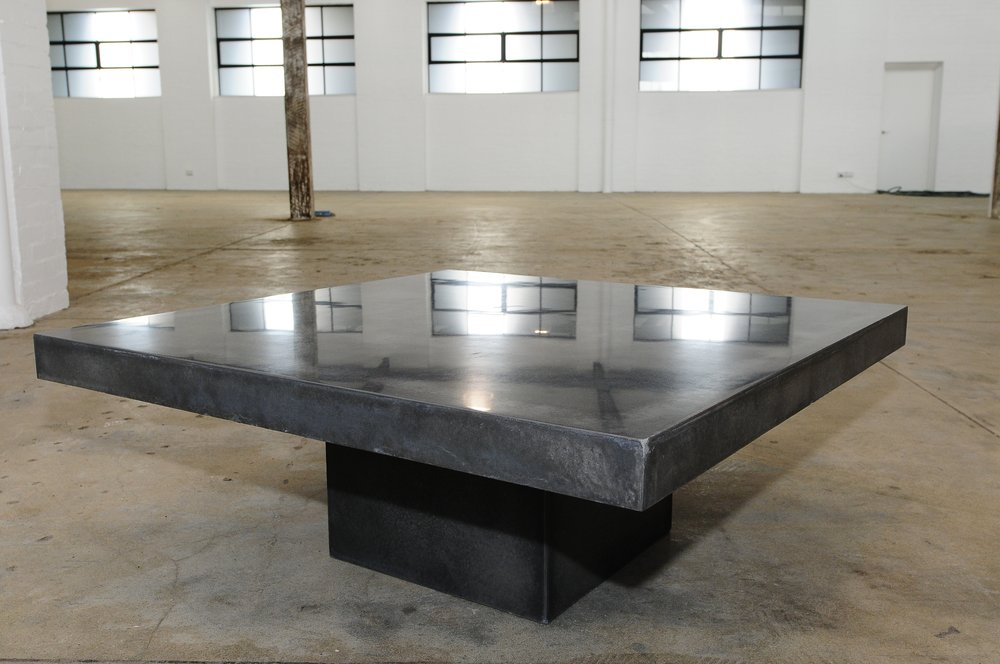Image of: Crate and barrel cement coffee table