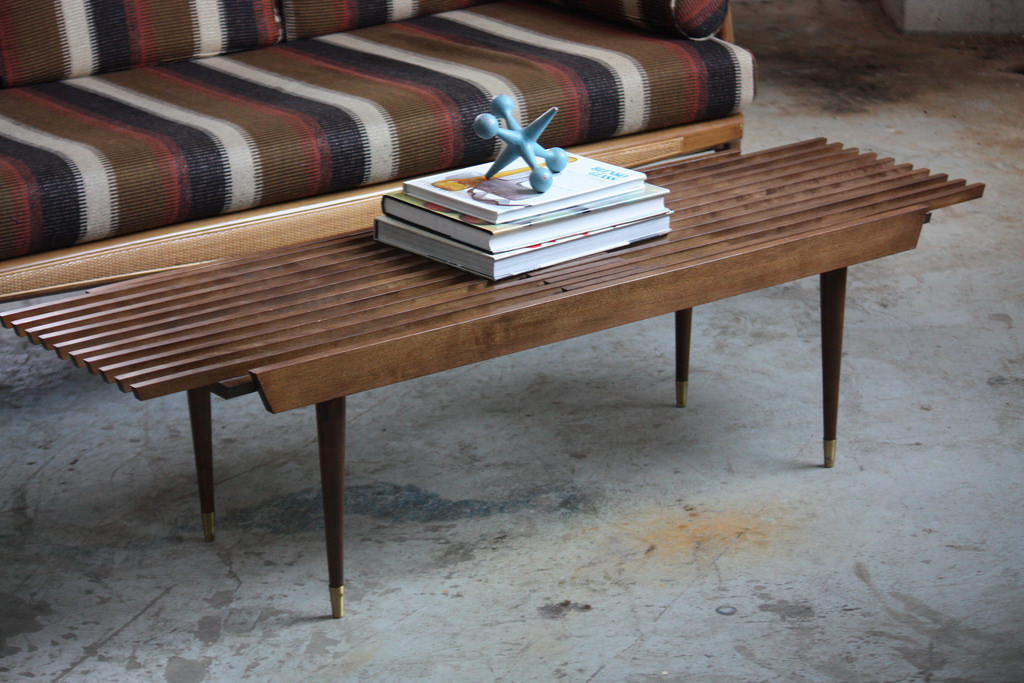 Image of: creative mid century modern coffee table