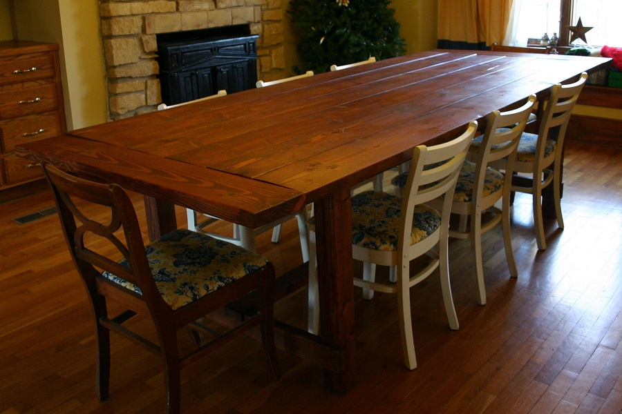 Image of: Custom Farmhouse Table Ana White