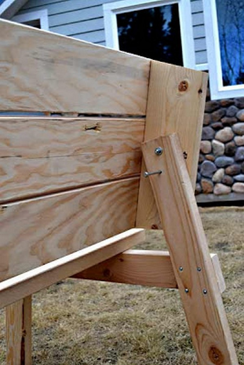 Image of: DIY Convertible Picnic Table Bench