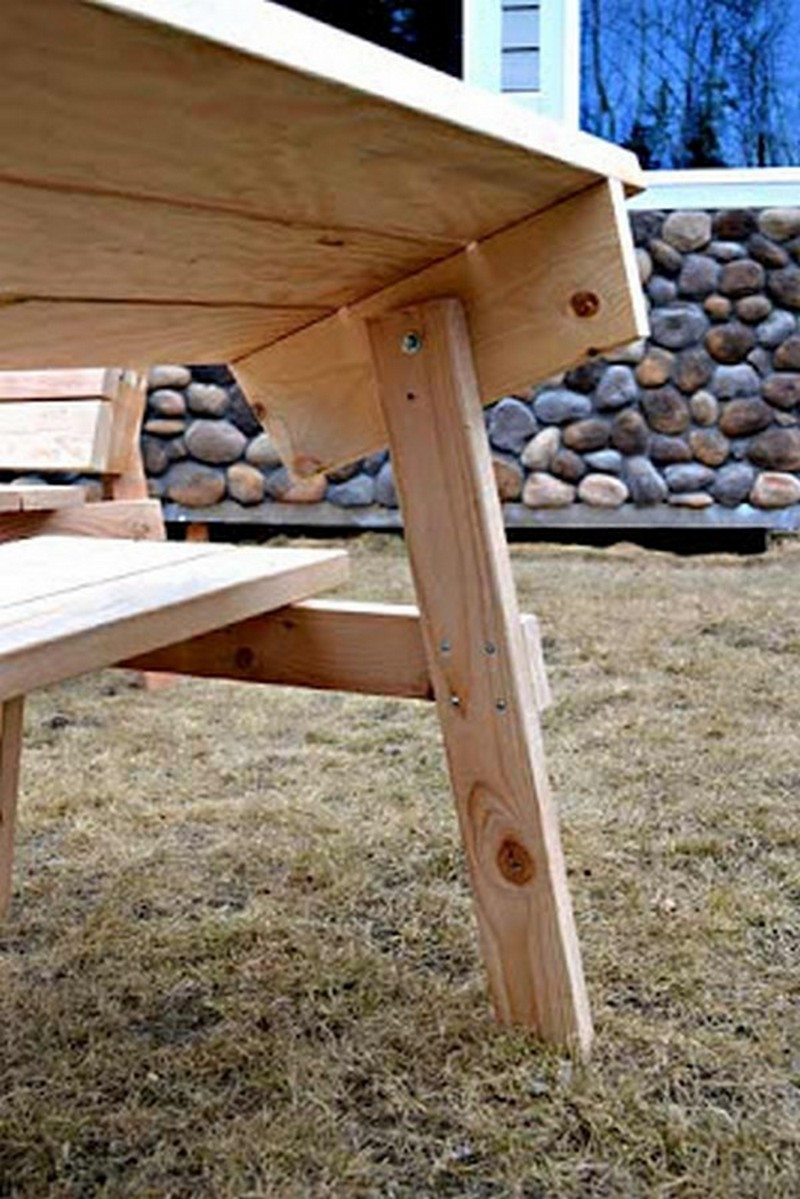 DIY Convertible Picnic Table