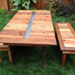 DIY Reclaimed Wood Picnic Tables