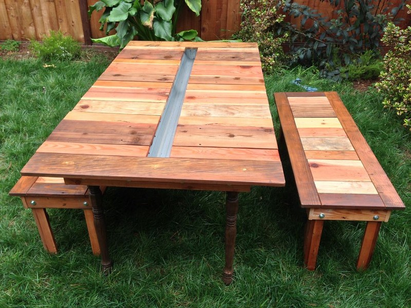 Picture of: DIY Reclaimed Wood Picnic Tables
