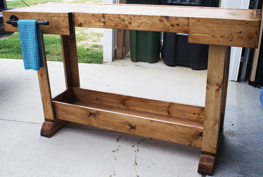 DIY Outdoor Console Table