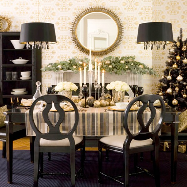 Image of: Dark Centerpiece for Dining Room Table