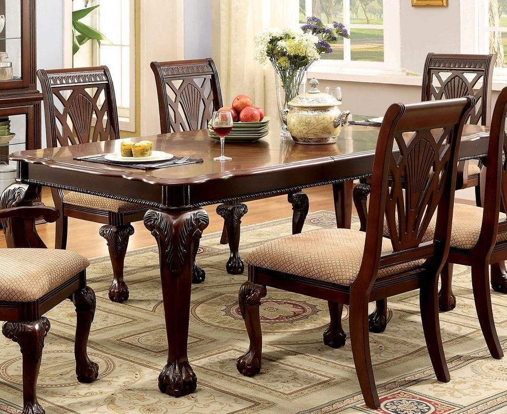 Image of: Dark Cherry Wood Dining Table