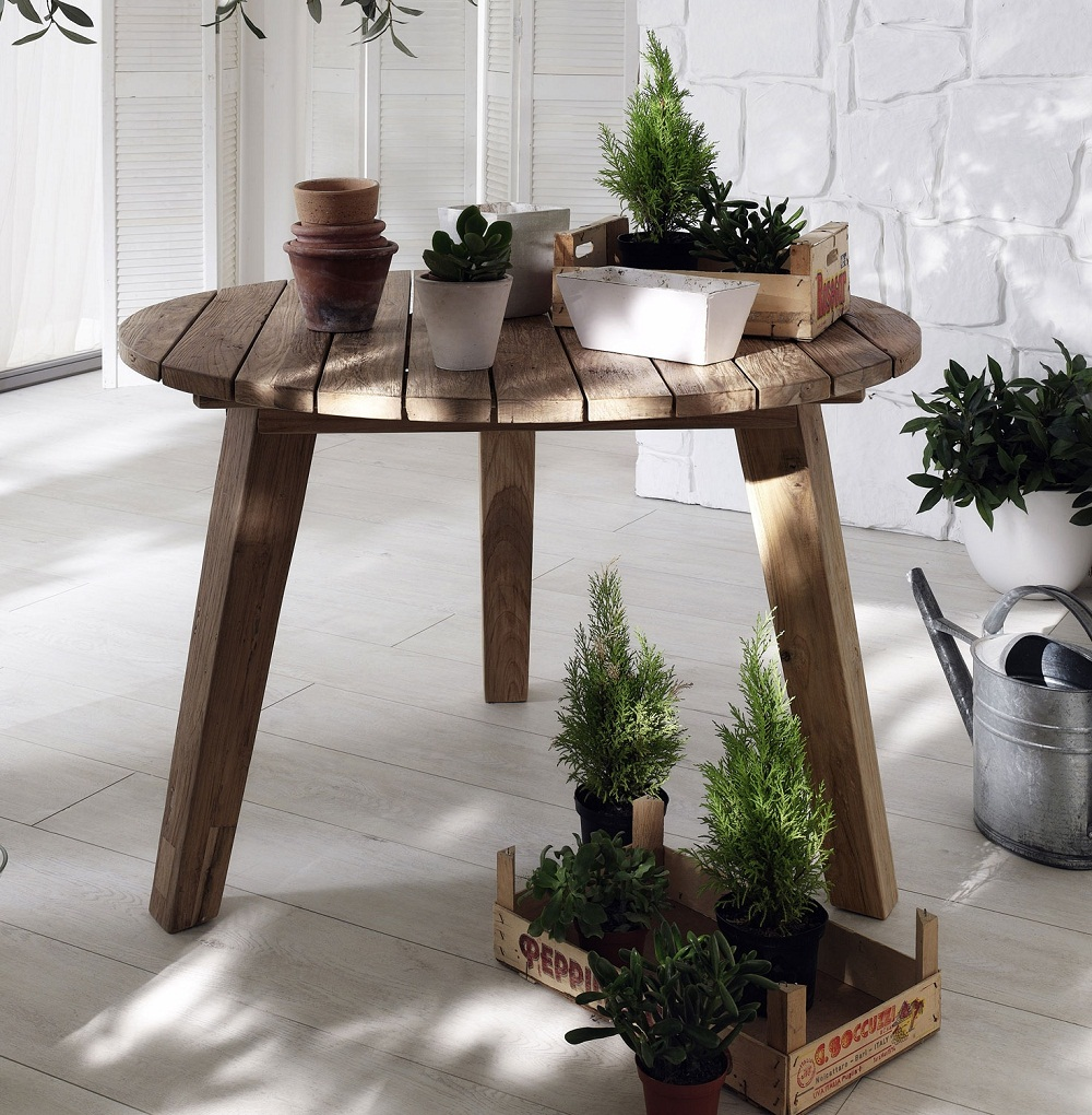 Image of: Decoration Teak Outdoor Dining Table