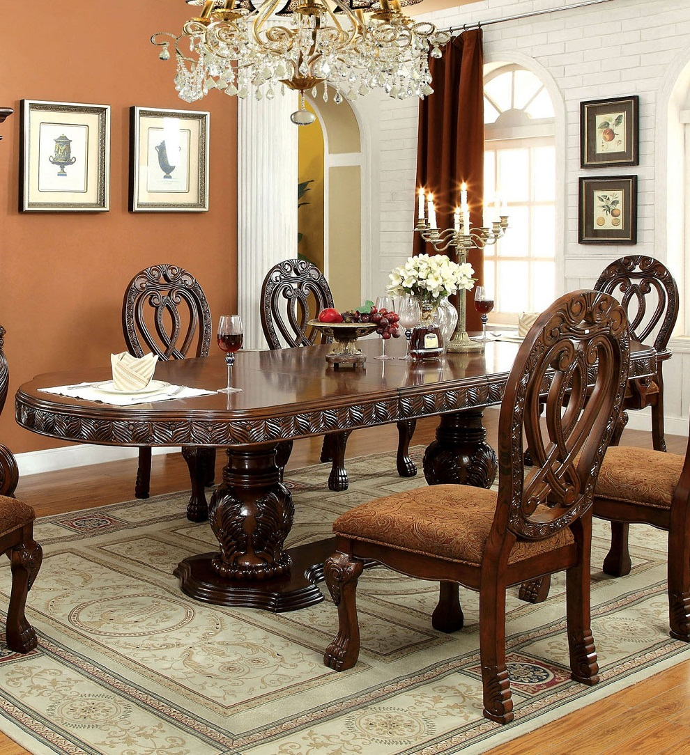 Image of: Decorative Cherry Wood Dining Table