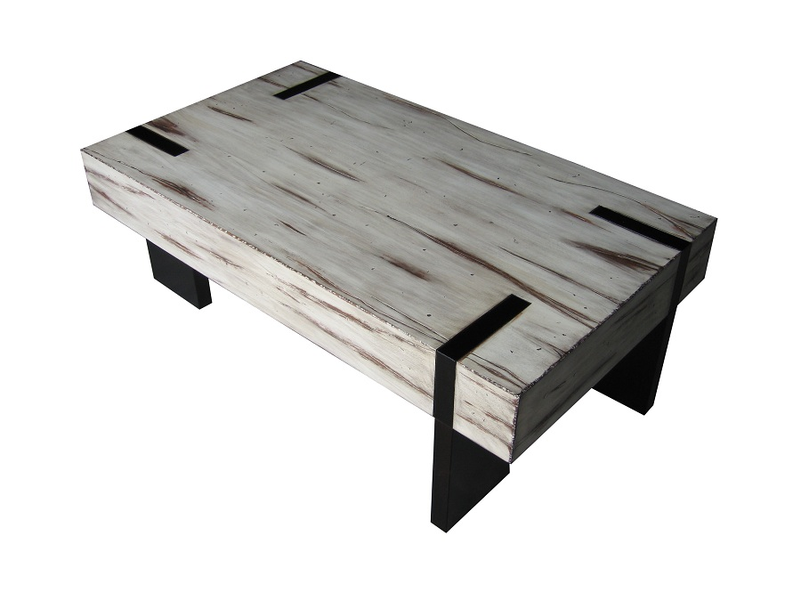 Design Distressed White Coffee Table