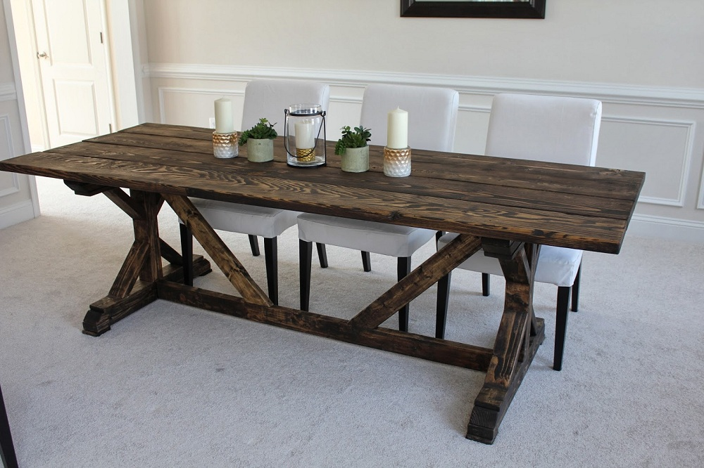 Image of: Design Farmhouse Table Ana White