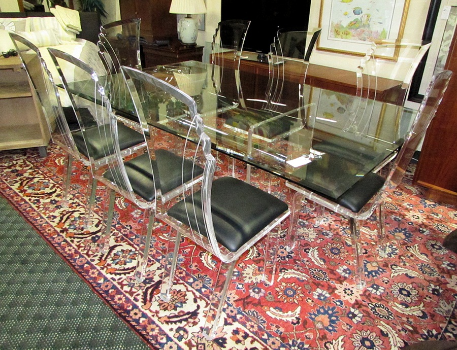 Image of: Design Lucite Dining Table