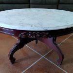 Design Oval Marble Coffee Table