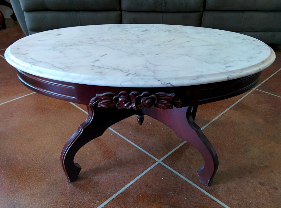 Picture of: Design Oval Marble Coffee Table
